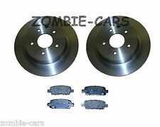 NISSAN QASHQAI 1.5 1.6 2.0 DCi REAR 2 BRAKE DISCS AND PADS SET NEW (SOLID DISCS)