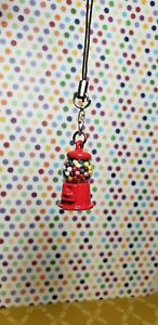 Handcrafted metal mini Gumball Machine cell phone charm