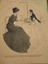 Sucre sans Pince repas  coupe champagne Print Art Déco 1909