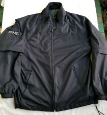 Ping Heavy Winter Golf Jacket Coat Black Removable Arms and inner lining