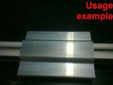 Aluminum T-slot profile blank double panel-mesh retainer 30 series L120mm, 4-set