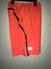 "Under Armour Escape 9"" Woven Heatgear Shorts •Orange• Men's Small"