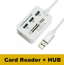 Aluminum 3 Port USB 3.0 Hub MS SD M2 TF Multi-In-1 Memory Card Reader Adapter