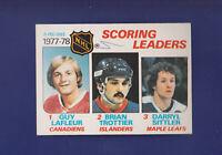 Guy Lafleur Scoring Leaders 1978-79 O-PEE-CHEE Hockey #65 (VG)Montreal Canadiens