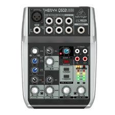 Behringer Q502 USB 5-Input Mixer w/ XENYX Mic Pre's & Compressor & USB, New!