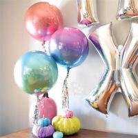 22inch 4D Round Shape Aluminum Foil Balloon Wedding Birthday Party Decor Supply