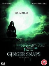 Ginger Snaps Unleashed DVD Emily Perkins Katharine Isabelle UK Rel New Sealed R2