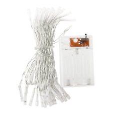 40 LED Batteriebetrieben Lichterkette Streifen Warmweiss fuer Hochzeit Party Wei