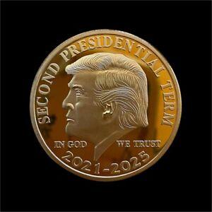 "US Donald Trump Gold Commemorative Coin ""Second Presidential Term 2021-2025 Coin"