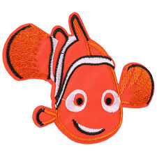 1pcs Cartoon Nemo Fish Embroidered Iron/Sew ON Patch Kids Cloth Applique3.5X2.5""