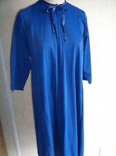 Vintage Womens Blue Evelyn Pearson Robe Medium Lounging Apparel Pockets