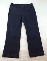 Gap Women's 12 Dark Wash Curvy Fit Flared Wide Leg Denim Blue Jeans