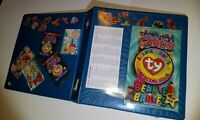 Ty Beanie Babies Card Album Binder FULL OF 158 Rare SPECIAL INSERTS colors foils