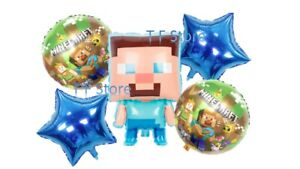 Party Balloons foil Gaming Latex Balloons Birthdays Party  Mine Craft Balloons
