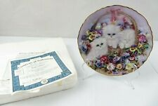 Vintage Collector Plate Basket Of Love Kitty Cat by Lily Chang Coa