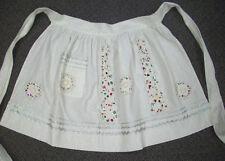 WHAT NOT Christmas vintage half Apron laces beads sequins