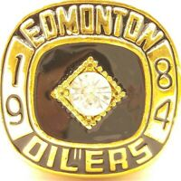 1984 Edmonton Oilers Gretzky NHL Stanley Cup 18k Gold Plated Championship Ring