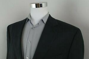 Chaps Ralph Lauren Black Faux Suede 2 Button Sport Coat Blazer Jacket Mens 48R
