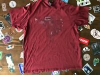 Nike ACG All Conditions Gear Maroon Graphic Tee T-Shirt Mens SZ L