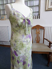 Ladies M&S Pretty Summer Floral Dress Size 12 Long (Wedding/Party) BNWT