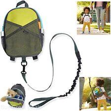 Safety Toddler Harness Backpack Adjustable Strap Kids Child Walking Leash Keeper