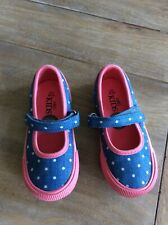 MARKS & SPENCER BLUE & PINK SHOES SIZE 8 25 1/2 NEW/TAGS