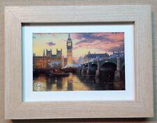 "Thomas Kinkade Framed Open Edition print ""London"" - NEW"