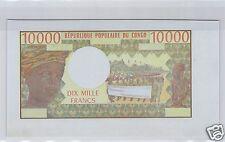 REPUBLIQUE POPULAIRE DU CONGO EPREUVE UNIFACE 10 000 FRANCS ND (1971) RARE !!!!