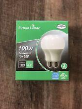 2 Pack LED Bulbs 100W Replacement Daylight 2700k Future Lumen LED