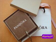 Rare Pandora Small Tan colour Suede 3 Tier Organizer Jewellery Box with Gift Bag