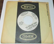 CHARLIE WALKER GOD SAVE THE QUEEN OF HONKY TONKS EPIC COUNTRY PROMO 45 VG+