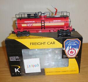 K-LINE K632-6101 FDNY FIREFIGHTER WATER TANK CAR O GAUGE TRAIN NEW YORK FIRE