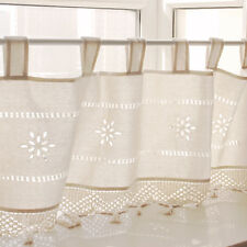 1Panel Beige Country Crochet Lace Half Window Curtain Blackout Valance Drape New