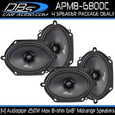 """6x8"""" Midrange Speaker 1000W 8 ohm Pro Car Audio Mid 2 Pair Audiopipe APMB-6800C"""