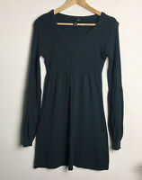 H&M Size M (12/14) Forest Green Knitted Tunic Dress