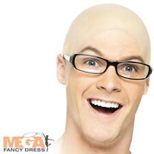 Bald Head Rubber Cap Fancy Dress Skinhead, Old Man, Dr Evil Costume Accessory
