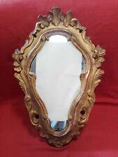 Specchierina in legno dorato del '900 cm 16,5x28,5 Antikidea