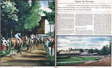 Sanford Ross Saratoga Springs HORSE RACE Grand Union Hotel 1935 Orig. Article