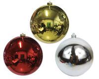 Pz 1 Palla Da Albero Di Natale Cm 20 Rossa/oro decorazioni addobbi natalizi