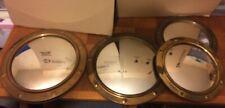 job lots 4 Vintage Brass Convex Porthole Mirrors marine fish eye 12 & 15 inches
