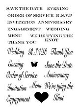 Sweet Dixie Clear Stamps WEDDING SENTIMENTS - Invitation Celebration Phrases
