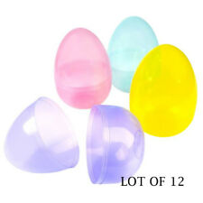"(LOT OF 12) Jumbo 8"" Plastic Easter Eggs"
