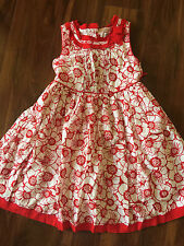 girls MAGGIE & ZOE SUMMER SUN DRESS fancy RED WHITE cute long length full SIZE 5