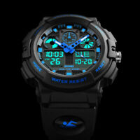 SKMEI Men's Military LED Digital Analog Sports Quartz Army Shock Dual Time Watch