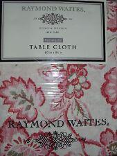 Raymond Waites 60x84 Rectangular Tablecloth Orange Coral Salmon Cream Floral NIP