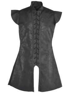Adults Black Medieval Tunic Fancy Dress Costume Game of Thrones Stark Warrior