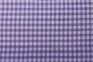 violet 10 cm cotton plaid checkered 1 mm