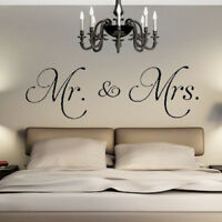 Mr. & Mrs PVC Wall Sticker Decal Living Room Home Decor Removable Convenient Diy