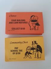 Vintage MONOPOLY - Replacement CHANCE & COMMUNITY CARDS