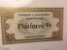 RARE - HOGWARTS EXPRESS TICKET - HARRY POTTER AND THE PHILOSOPHER'S STONE